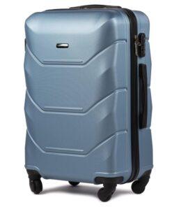 Wings Mirage Sølv Blå Kuffert - Mellem - 65 cm